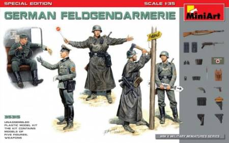 German Field Police (5) w/Weapons (Special Edition)