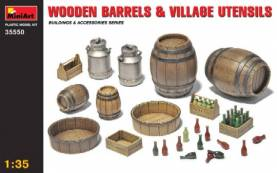 Wooden Barrels & Village Accessories