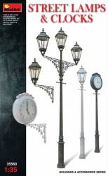 Assorted Street Lamps (3) & Clocks (2)