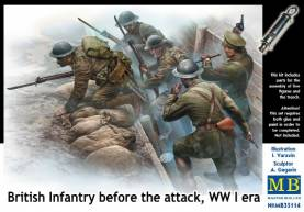 WWI British Infantry Before the Attack (5 w/Trench)