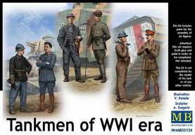 WWI French, German, British Private & Officer Tankmen of WWI (6)