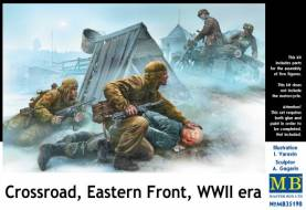 WWII Crossroads Eastern Front Soviets, German Officer & Motorcyclists (5)