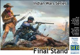 Final Stand US Cavalry Soldier, Frontiersman & Down Horse