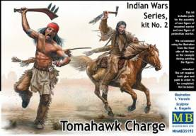 Tomahawk Charge Indians w/Weapons (2) & Horse (1)