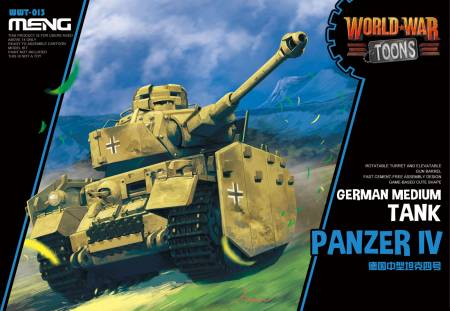 German Medium Tank Panzer IV  - World War Toons Meng Model Kids Caricature Series
