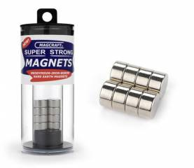 1/2in x 1/4in Rare Earth Disc Magnets (8)