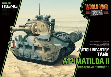 British A12 Matilda II - World War Toons Meng Model Kids Caricature Series