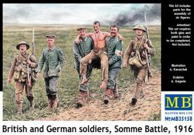 WWI The Somme 1916- British with  German Prisoners