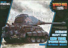 King Tiger Geman Heavy Tank - World War Toons Meng Model Kids Caricature Series