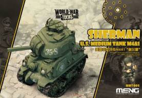 M4A1 Sherman U.S Tank - World War Toon Meng Model Kids Caricature Series