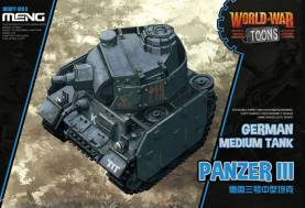 German Medium Tank Panzer III  - World War Toons Meng Model Kids Caricature Series