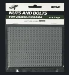 Large Nuts & Hex Bolts w/Washers Set B Plastic