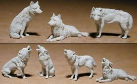 Standing and Lying Wolves