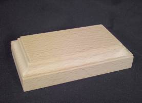 Rectangular Base - Unpainted - 4.25 x 2 x 1.2in high