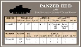 Battlegroup Accessories: Early German Datacards