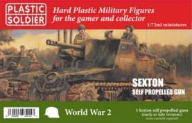 WWII Sexton Self Propelled (Early/Late) Gun (3) & Crew