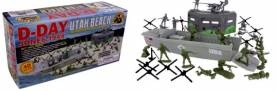 WWII D-Day Utah Beach Boxed Playset