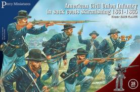 Perry Miniatures American Civil Union Infantry in Sack Coats Skirmishing 1861-65
