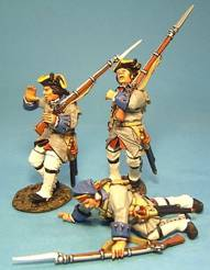 BATTLE ON THE PLAINS OF ABRAHAM 1759 - FRENCH LINE INFANTRY WOUNDED #QF-07 - 1 AVAILABLE OOP