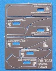 Micro Saw Set: (22+/cm 2 ea: curved, tapered, straight)