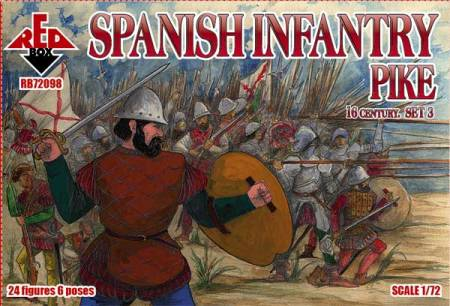 Spanish Infantry Pikemen Set #3 - 16th Century