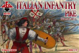 Italian Infantry Pikemen Set #3 - 16th Century