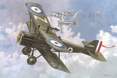 Se5a RAF BiPlane Fighter w/Wolseley Viper Engine