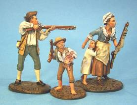 RAID ON ST FRANCIS 1759 - CIVILIANS 1 #RFB-01 - 1 AVAILABLE OOP