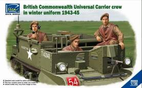 WWII British Commonwealth Universal Carrier Crew in Winter Uniform 1943-45