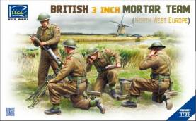 British 3-Inch Mortar & Team (4) North West Europe