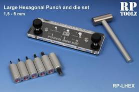 Large Hexagonal Punch and Die Set