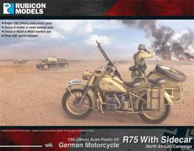 WWII German Motorcycle R75 with Sidecar (DAK)