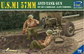 US M1 57mm Anti-Tank Gun on M2 Carriage (Late Version)