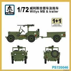 U.S. Willys MB with Trailer