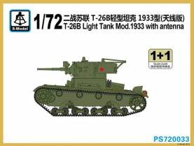 WWII Russian T-26B Light Tank Mod.1933 with antenna