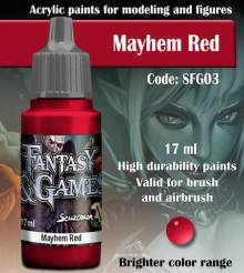 Fantasy and Games- Mayhem Red Paint 17ml