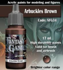 Fantasy and Games- Arbuckles Brown Paint 17ml