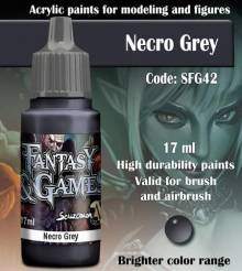 Fantasy and Games- Necro Grey Paint 17ml