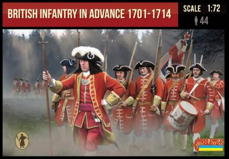 British Infantry in Advance 1701-1714