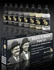 Scale Color- Black And White Paint Set