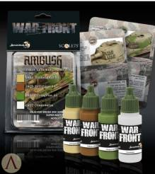 Scale Color Warfront Paint Sets: Ambush German Late War Colors