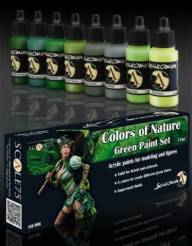 Scale Color- Colors Of Nature Green Paint Set