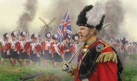 Napoleonic Highlanders on the March