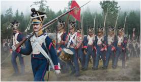 Napoleonic Polish Infantry on the March