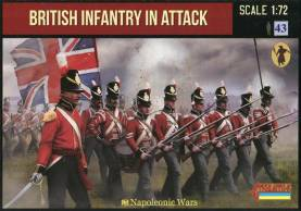 Napoleonic British Infantry in Attack