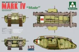 WWI British Heavy Battle Tank Mark IV Male