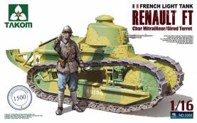 WWI French Light Tank- Renault FT Char Mitrailleur-Girod Turret