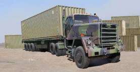 US M915 Army Truck w/40ft. Container Trailer