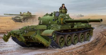 Russian T62 Mod 1975 Tank w/KMT6 Mine Plow (New Variant)