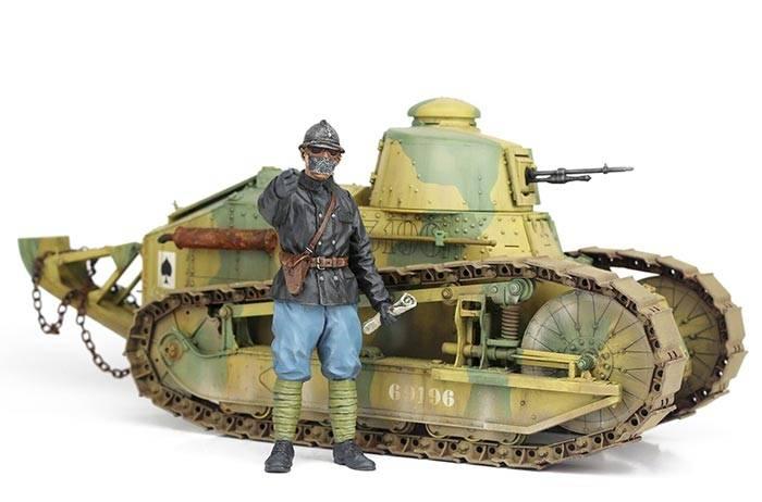 takom international wwi french light tank renault ft char mitrailleur girod turret. Black Bedroom Furniture Sets. Home Design Ideas